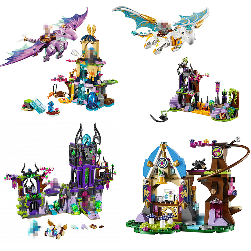 Elves The Dragon Adventure Girl Friends Building Bricks Blocks DIY Educational toys For Children Compatible Lepining Kids gifts image