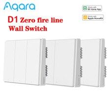 Aqara D1スマートスイッチワイヤレスリモートコントロール壁スイッチ中立火災ワイヤートリプルスマートホームmihomeアプリapple homekit