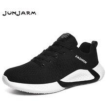 JUNJARM 2020 אביב חדש גברים נעלי אופנה קל משקל גברים נעליים יומיומיות מוגבר נוח מגניב הליכה סניקרס גברים 38 46