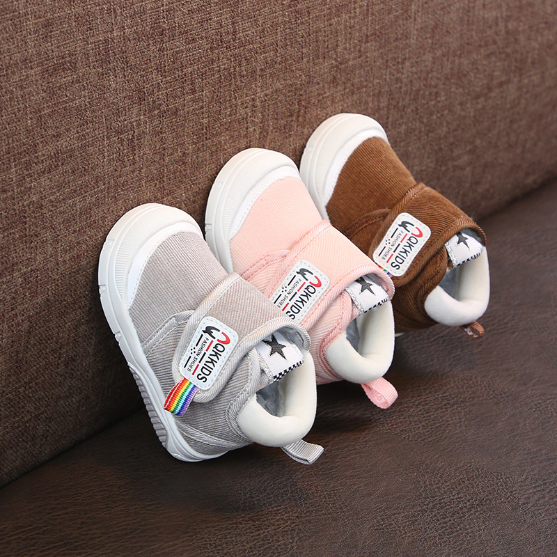 Infant Winter Boots Baby Girl Boys Toddler Boots Soft Bottom Outdoor Warm Plush Kids Children Boots High Quality Shoes
