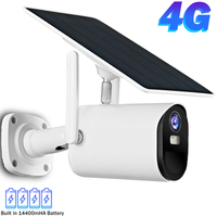 Cámara IP de 1080P para exteriores, videocámara de seguridad con WiFi, 4G, tarjeta SIM, CCTV, Panel Solar, batería, inteligente para el hogar, PIR, detección humana, H.265