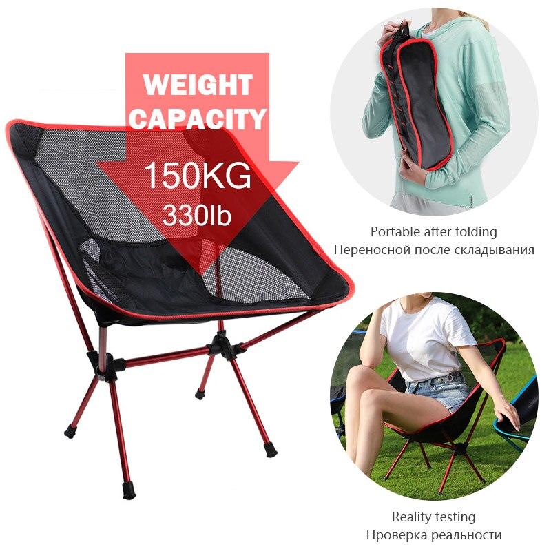 Portátil dobrável cadeira de acampamento ultraleve ao ar livre cadeiras de pouco peso dobrável cadeira de pesca piquenique assento para viagens