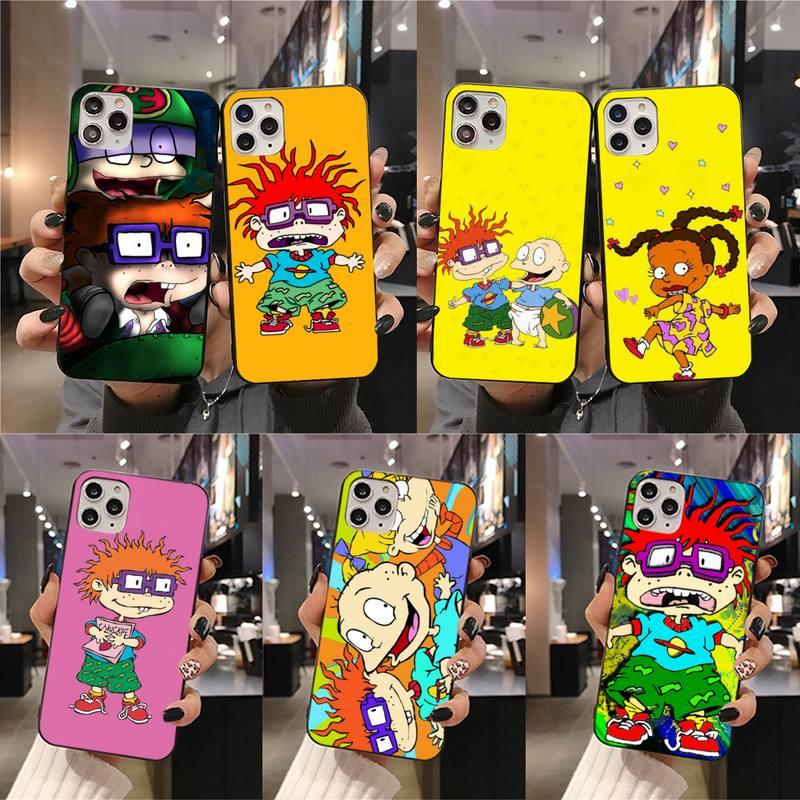 Cartoon Rugrat Phone Case For Iphone 12 Pro Max 11 Pro XS MAX 8 7 6 6S Plus X 5S SE 2020 XR Case