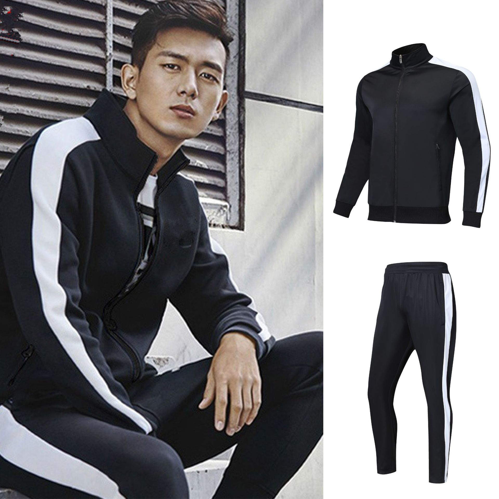 Adult Kids Celebrity Style Casual Sports Game Team Customizable Ball Uniform Running Breathable Autumn And Winter Long Sleeve Tr