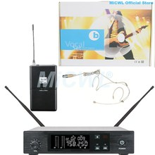 Pro Digital UHF Wireless MiCWL Audio Microphone System D100 Beige Omnidirectional earset Headset Microphones