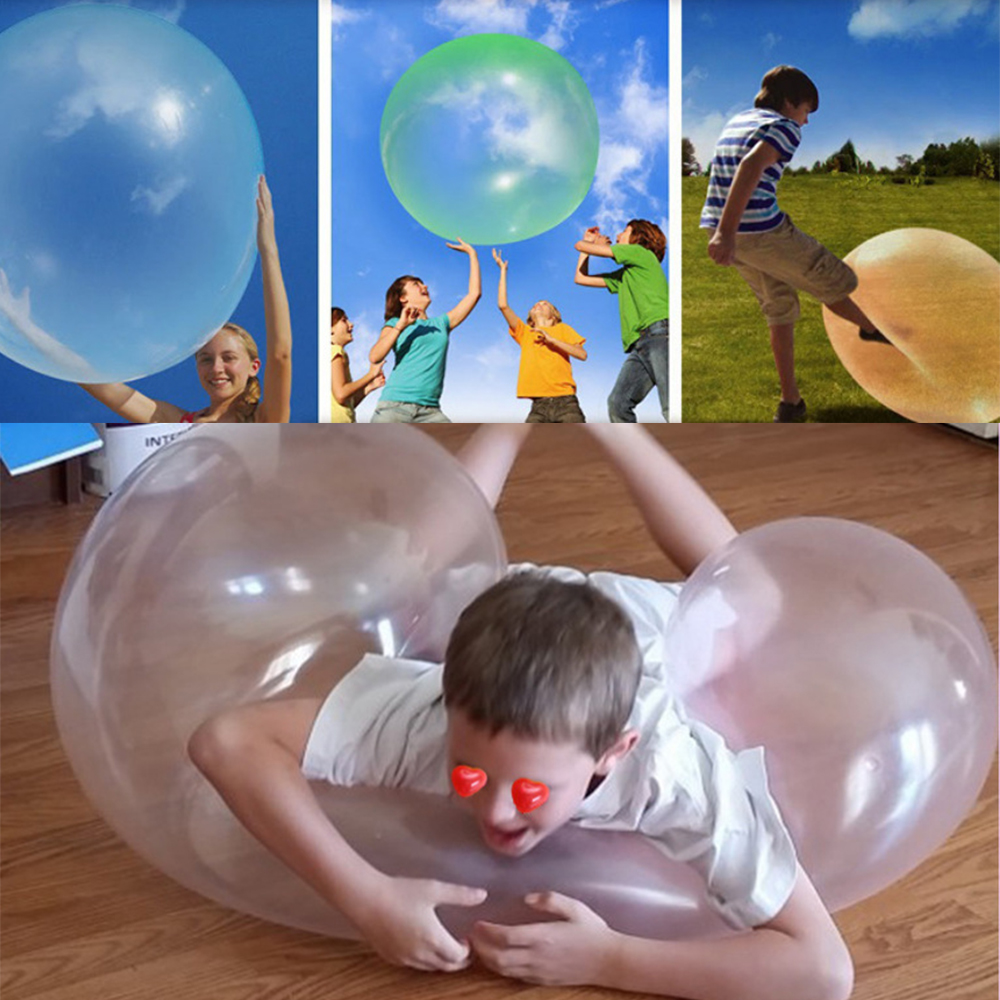 Dynamovolition Bubble Ball TPR Outdoor Sports Toy Caddy Adult Outdoor Game Childrens Gift Funny Toy Inflatable Air Bouncing Bubble Ball