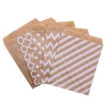 Sac d'emballage cadeau en papier Kraft 18x13cm, sachets pour bonbons, mariage, anniversaire, Biscuit, nourriture, fournitures d'emballage cadeau
