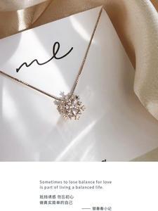 Элегантное ожерелье из стерлингового серебра 925 пробы с роскошным цирконом, подвеска-цепочка в коробке, дизайнерский женский свадебный под...