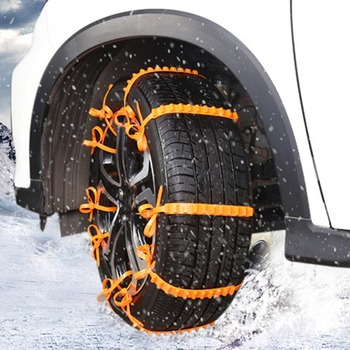 5Pcs Car Snow Tire Anti-Skid Chains Tire Snow Chains Wheel Tyre Cable Belt Fit Tyre Width 145-295 Snow Rain Winter Tool image