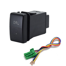 1PC power supply LED DRL fan Electronic dog After Fog Light Steering Sheel Switch Button for Mazda 5