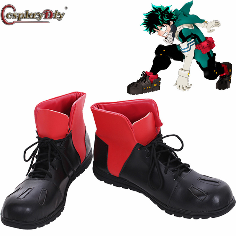 New My Hero Academia Izuku Midoriya Cosplay Deku Battle boots shoes