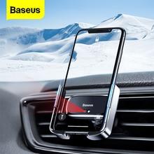 Baseus Mini ذكي الأشعة تحت الحمراء سيارة حامل هاتف الهواء تنفيس جبل حامل سيارة للهاتف في سيارة المحمول حامل آيفون 11 برو ماكس