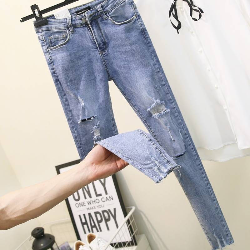 Женские джинсы с высокой талией Fa303, повседневные джинсы с высокой талией на осень и зиму, 2019|Джинсы|   | АлиЭкспресс