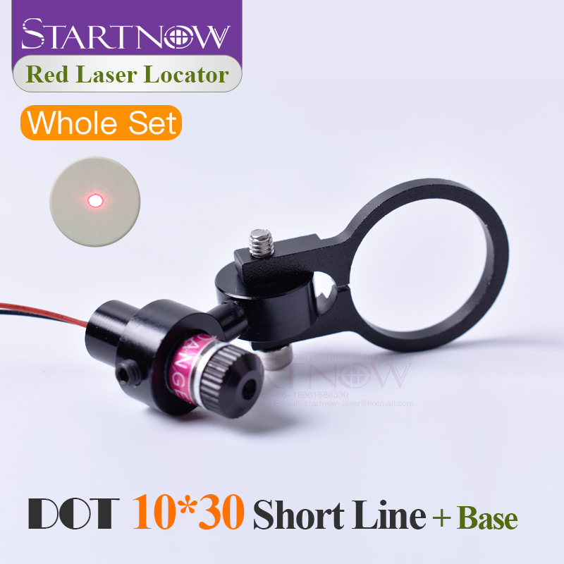 Set 10*30s 650nm 5mw 5V With Bracket Laser Dot Red Module Laser Locator Dot Beam Pointer For Laser Marking Machine Positioning