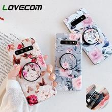 LOVECOM Retro Flower Phone Case With Holder For Sam