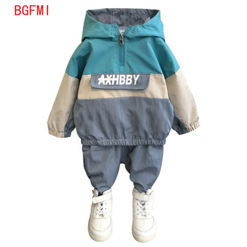 Boys Sports Set Spring Autumn Casual Toddler Teens Boys Clothes Color Matching Coat Pant Children Clothing Set Kids Tracksuits