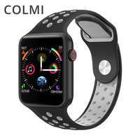 Colmi m33 relógio inteligente ip67 à prova dip67 água rastreador de fitness monitor de freqüência cardíaca relógio inteligente das mulheres dos homens smartwatch para apple iphone completo