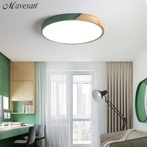 Image 3 - Luces de techo LED de estilo nórdico modernas para dormitorio, mando a distancia para 8 20 metros cuadrados, accesorio de iluminación