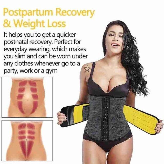 Body Shaper Waist Tummy Control Belt Sauna Slimming Strap Fitness Sweat Shapewear for Fat Burner Shaping Underwear Waist Cincher 3