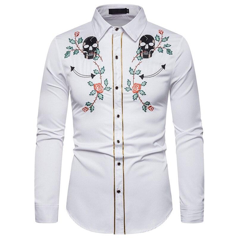 Sebaby Men Full-Zip Single Breasted Mandarin Collar No Iron Casual Shirt