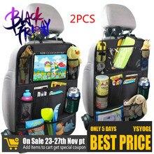 2021 Convenient Car Seat Back Organizer Multi Pocket Storage Bag Box Case Car storage bag Tablet Holder Storage Organizer