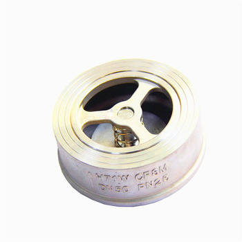 DN65/DN80/DN100 H71W Stainless steel 304 Clip type Check Valve one-way Spring ultra-thin Back pressure valve