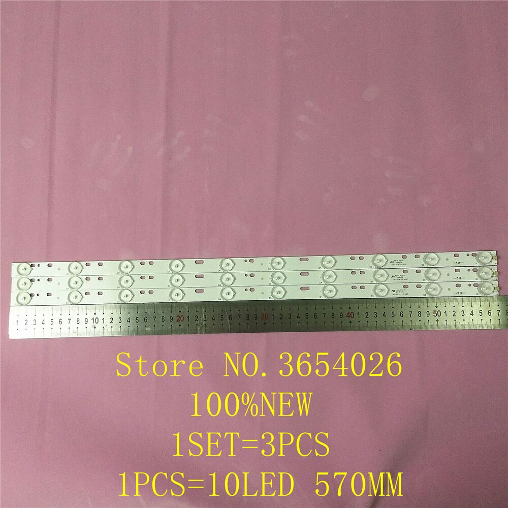 3PCS/lot LCD TV LED Back light D304PHHB01F5B KJ315D10-ZC14F-03 303KJ315031 D227PGHBYZF6A <font><b>E348423</b></font> 1PCS=10LED 570mm image