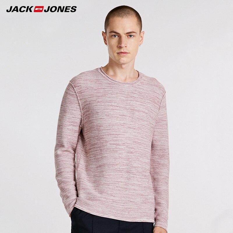 JackJones Mens  Cotton Round Neckline Pullover Winter Sweater|  218324512