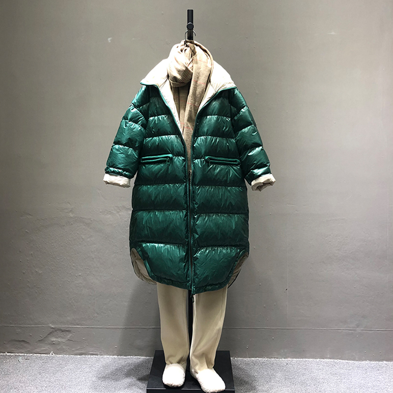 FTLZZ 2019 Neue Ultra Licht Weiße Ente Unten Parka Winter Frauen Unten Lange Jacke Zipper Schwarz Winddicht Unten Outwear-in Daunenmäntel aus Damenbekleidung bei  Gruppe 2