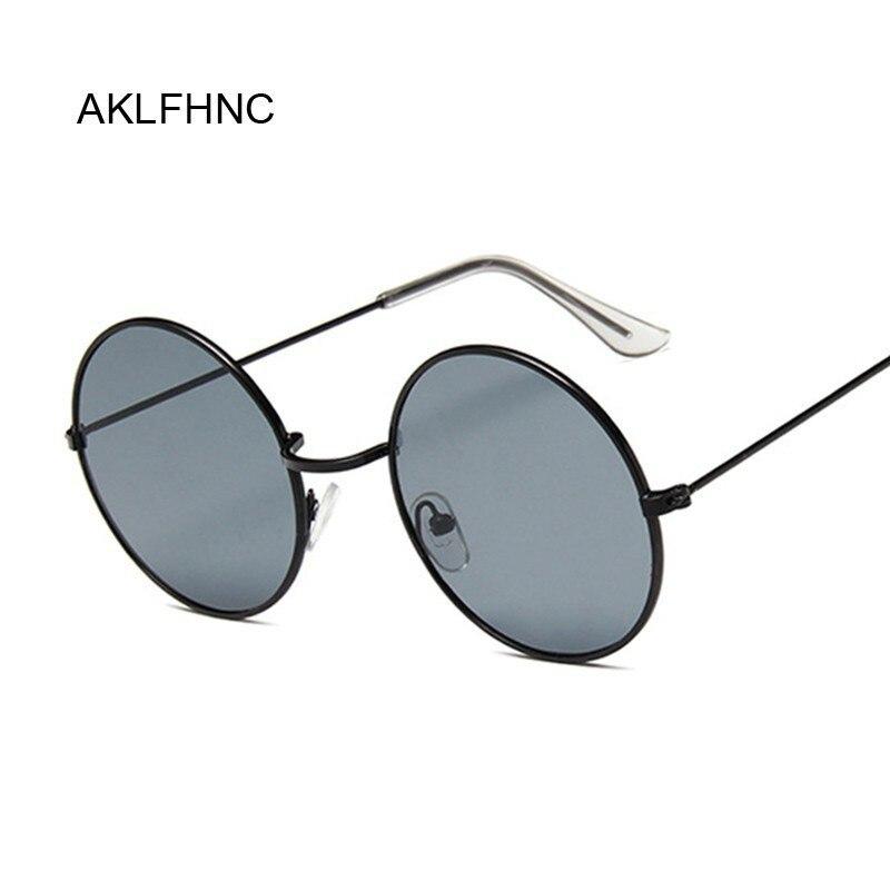 Круглые черные солнцезащитные очки в стиле ретро 2020, мужские брендовые дизайнерские солнцезащитные очки для женщин и мужчин, зеркальные со...