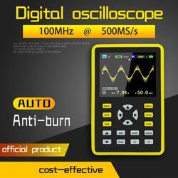 Portable 5012H 2.4-inch Digital Oscilloscope 100MHz Analog Bandwidth Screen 500MS/s Sampling Rate Support Waveform Storage 40P #