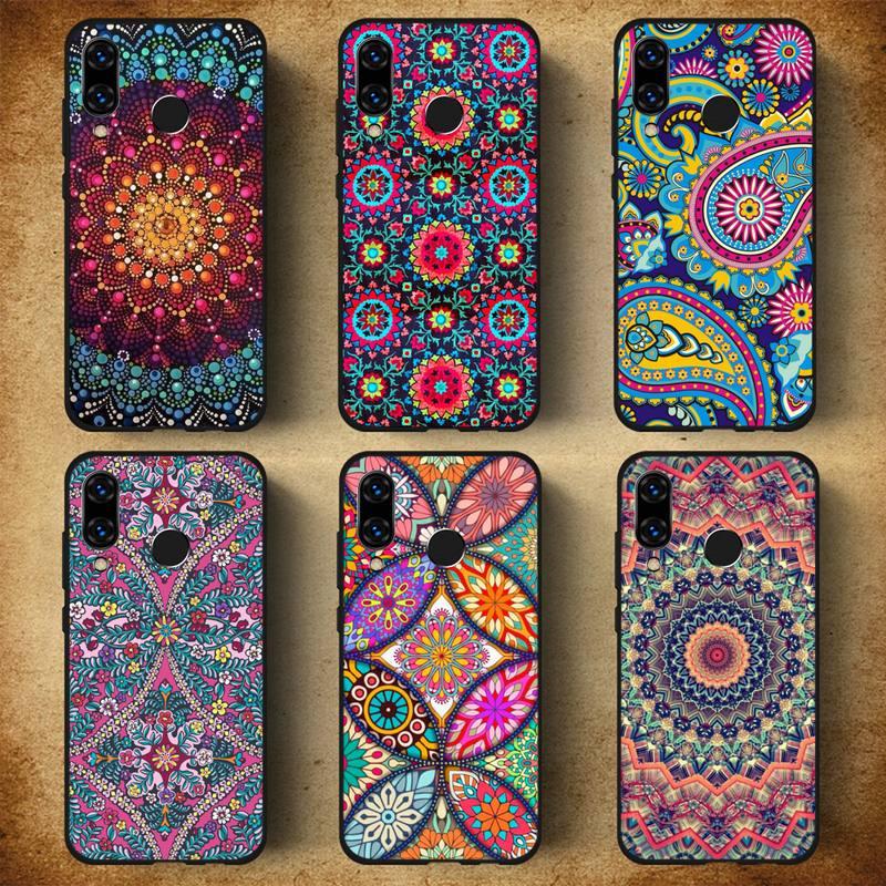 Mandala flower totem Phone Case For Huawei Y5 Y6 II Y7 Y9 PRIME 2018 2019 NOVA3E P20 PRO P10 Honor 10