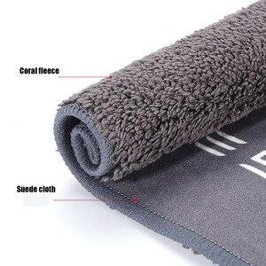 Image 5 - 車のクリーニングマイクロファイバータオル洗浄布テスラためモデル3 s xy両面サンゴフリースタオル洗車タオル20*28センチメートル