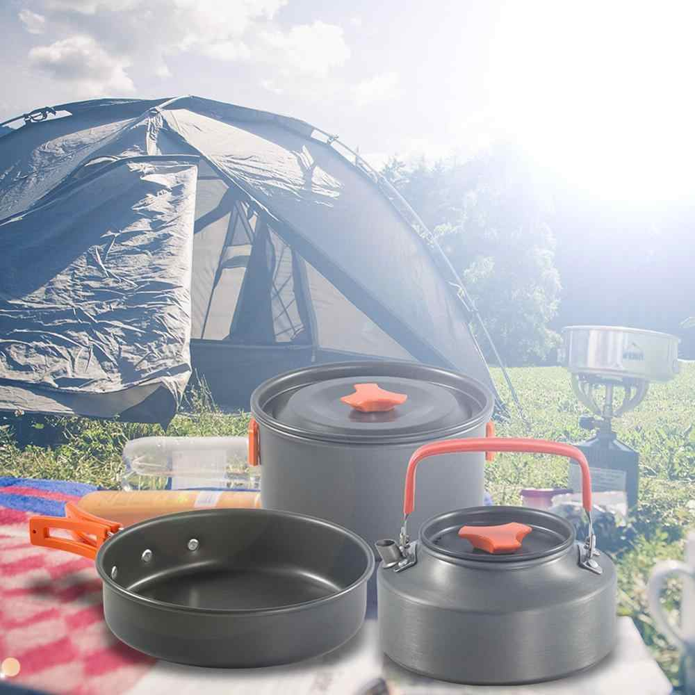 Outdoor Camping Cookware Ultralight zastawa stołowa przenośny pojemnik na wodę zestawy patelni sprzęt biwakowy zestaw do gotowania naczynia do uprawiania turystyki pieszej