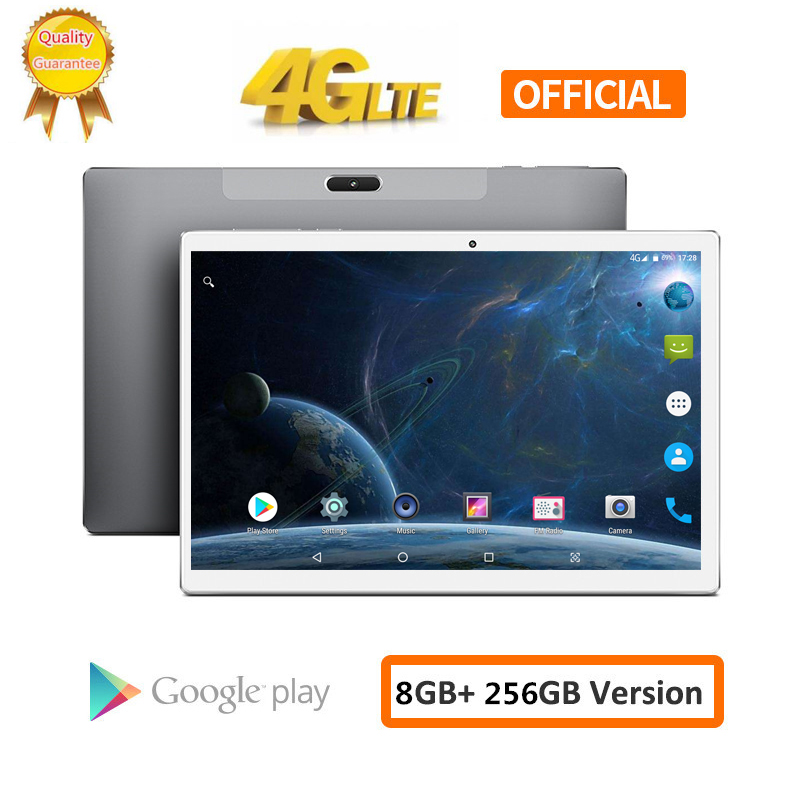 X20L S119 10.1 Inch 2560*1600 8GB RAM 256GB ROM Android 8.0 Tablet PC MTK6797 Deca Core Dual 4G LTE Phone Tablets 8000mAh GPS