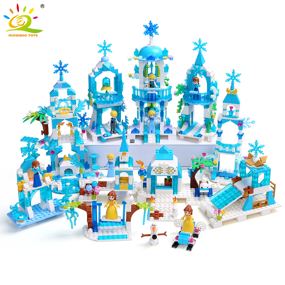 HUIQIBAO 5 in 1 Princes Windsor Castle Model Building Blocks Friend Carriage Figures Educational Toys House Brick Girl Children|Blocks| |  - title=