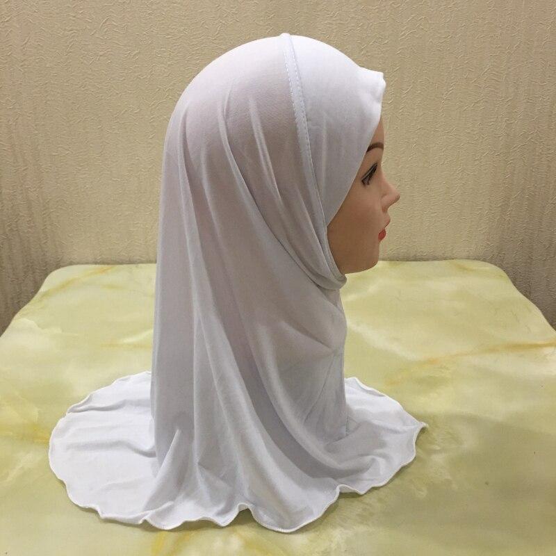 H061 simples pequena menina amira hijab caber 2-6 anos de idade crianças al-amira puxar no lenço islâmico headwrap headbands