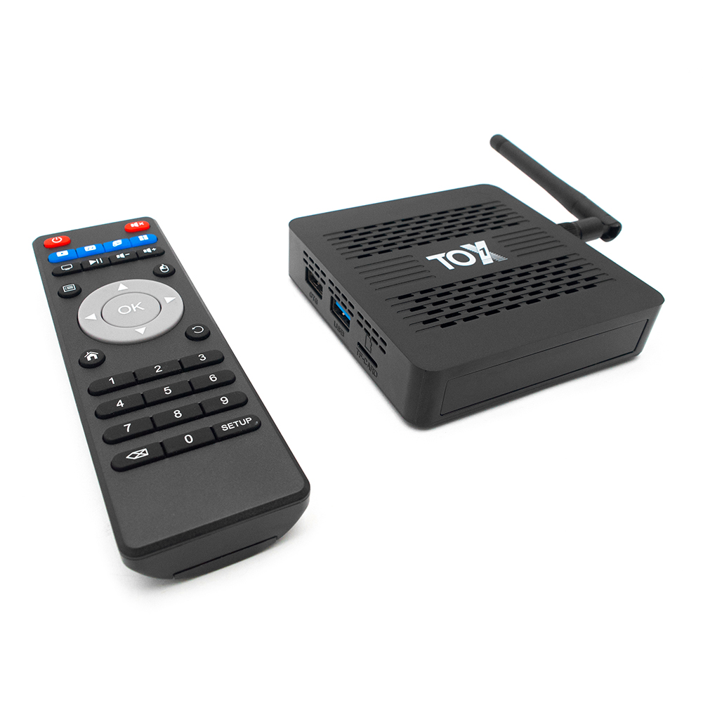 Smart TV Box WiFi Bluetooth 4K HD Set-Top Box Quad-Core Android 9.0 4+32GB for TOX1 Household Television Playing Decoration