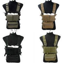 TMC Lightweight Tactical Vest SS Modular Chest Rig Set A Chest Hanging Matte RG/CB/BK/KK Cordura 500D fabric(China)