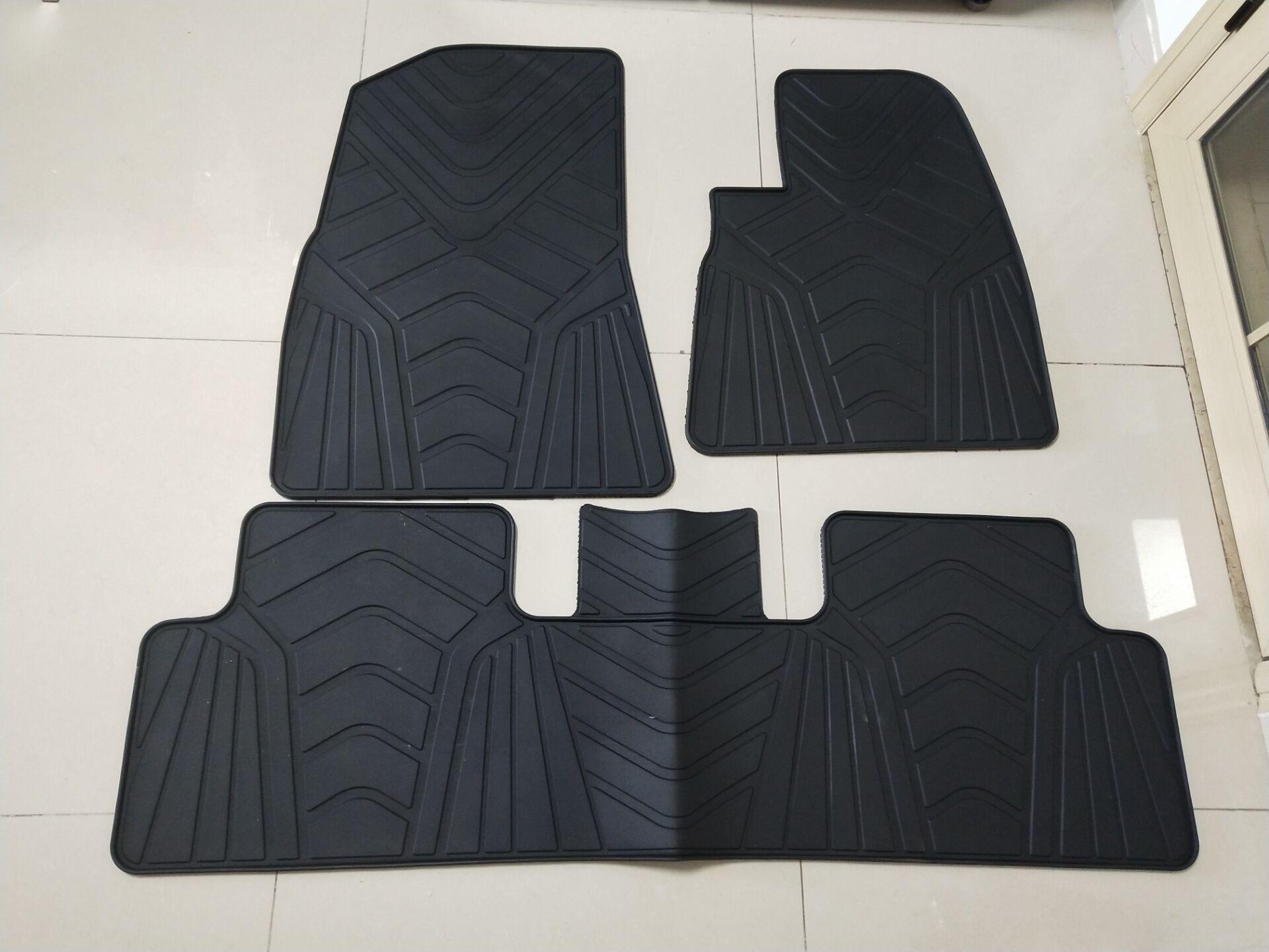 Spécial sans odeur avant et arrière 5 sièges tapis imperméable en caoutchouc voiture tapis de sol pour Tesla modèle 3 RHD direction droite voiture