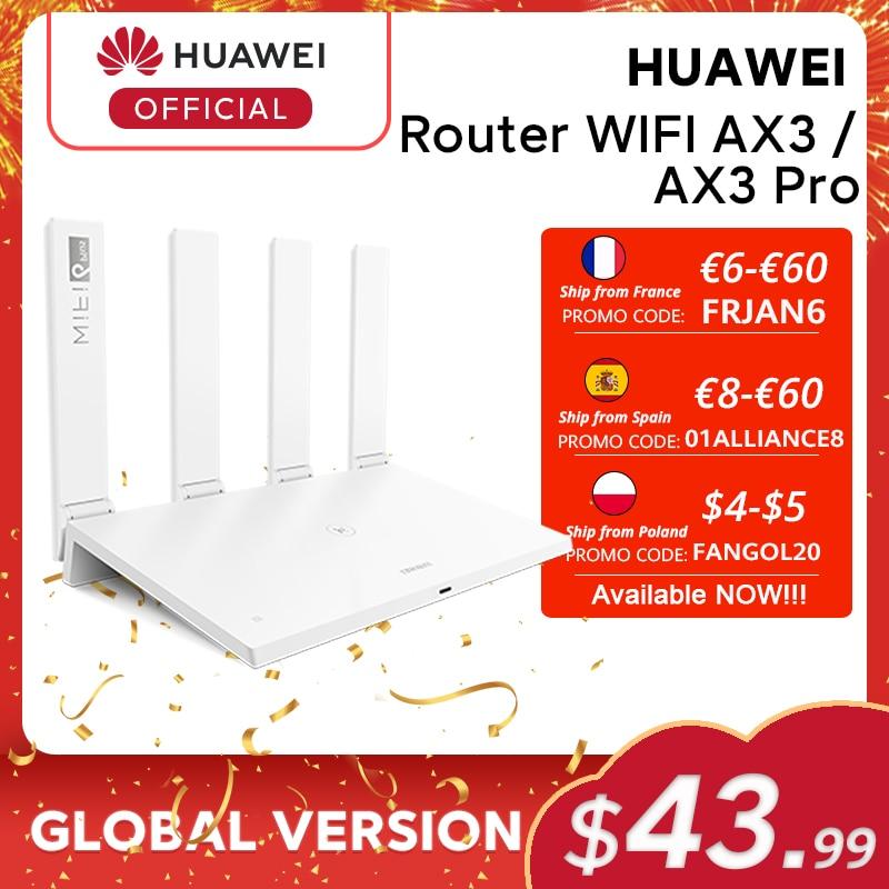 Глобальная версия Huawei роутер AX3 Wi-Fi 6 Plus 2,4 ГГц и 5 ГГц двухъядерный 3000 Мбит/с беспроводной Wi-Fi роутер AX3