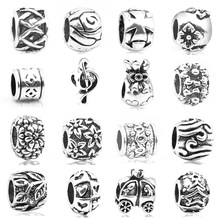 Fashionable European silver note alloy large hole bead, suitable for the original Pandora charm bracelet ornaments(China)