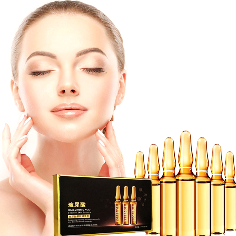 7Pcs Face Care Whiten Serum Hyaluronic Acid Nicotinamide Fullerenes Ampoule Anti-Aging Essence Shrink Pores Hydration Skin Care