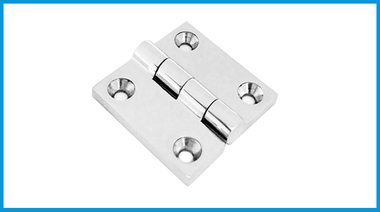 Heavy Duty Durable 316 Stainless Steel Solid Cast Boat Butt Hinge 2 x 2 inch