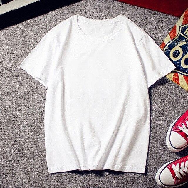 Мужская Однотонная футболка из 90% хлопка, 2019 летняя повседневная мужская футболка с круглым вырезом, приталенный стиль, базовые мужские
