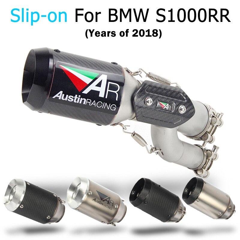 Système d'échappement de moto pour BMW S1000RR tuyau d'échappement de moto lien moyen Tube de courbure sans lacet pour BMW S1000RR 2017 2018 ans