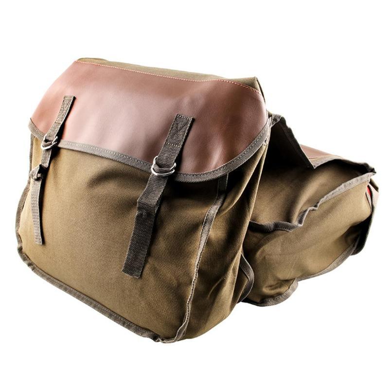 Motorcycle Saddlebag Canvas Saddle Bag Universal Cycling Portable Large Capacity Side Tool Bag For Vulcan Honda Shadow