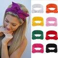 Женская модная однотонная повязка на голову с бантом, милые Ретро повязки для волос, повязка на голову, повязка на голову, аксессуары для вол...