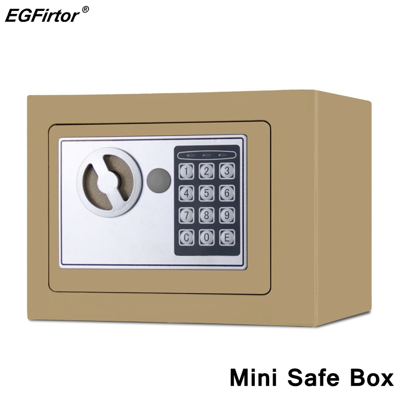 Digital Security Alarm Household Mini Safety Box Drop Cash Safe Box Jewelry Home Office Wall Type Security Alarm Box Anti-theft Safe Box