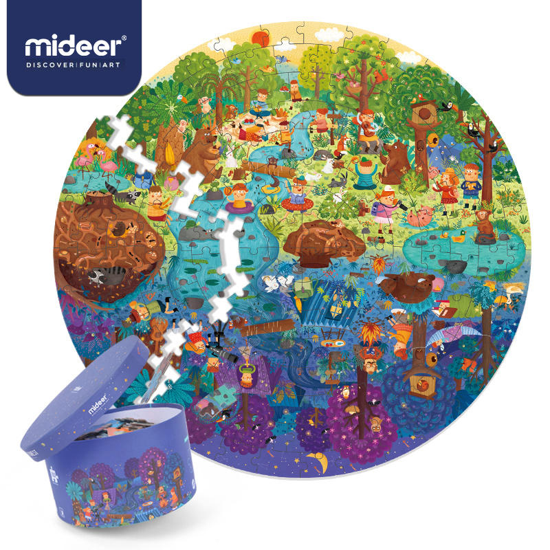 MiDeer 150PCS Puzzles Toys Educational Toys Hand-painted Jigsaw Board Style Puzzles Box Set For Kids Gifts >3 Years Old